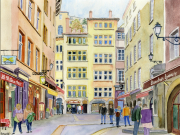 tableau villes lyon place neuve saintjean vieux lyon : 2021-12 Lyon Place Neuve Saint-Jean