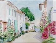 tableau architecture charentes maritimes talmont gironde : 1995-24 Ruelle rose trémière Talmont