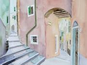 tableau architecture italie ligurie telaro village : 2010-22 Ruelle de Telaro