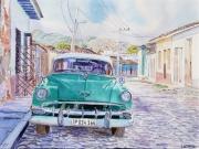 tableau villes trinidad cuba voiture americaine : 2017-10 Trinidad