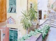 tableau architecture italie ligurie cinque terre vernazia : 2010-01 Ruelle de Vernazia
