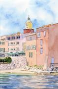 tableau architecture saint tropez cote dazur eglise village : 2020-26 Saint Tropez