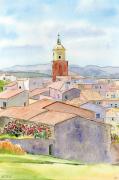 tableau villes sainttropez cote dazur village eglise : 2021-06 Saint-Tropez de la Citadelle