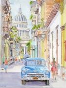 tableau architecture cuba capitole voiture la havane : 2019-04 La Havane