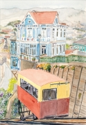 tableau architecture chili valparaiso funiculaire : 2020-11 Funiculaire de Valparaiso
