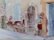 tableau architecture provence luberon roussillon village : 2008-03 Ruelle à Roussillon