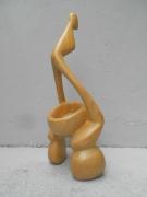 sculpture personnages neige froid soleil chaud : LE CLOWN
