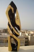 sculpture abstrait couleur bleu ciel etoiles : LA COUPE
