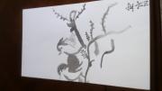 tableau animaux oiseaux arbre peinture chinoise paix : oiseau sur une branche