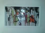 tableau abstrait colore insolite unique metaphysique : Le Cavalier Perdu