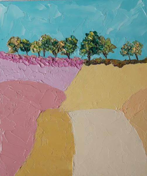TABLEAU PEINTURE artmodern paysages art tbleau art Paysages Peinture a l'huile  - PAINTING *SUNNY DAY*