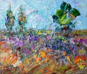 tableau paysages abstrait fleurs art creation art paysajes : Spring landscape