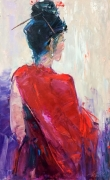 tableau nus abstraction abstrait nus geisha : *Geisha*oil on canvas 50x80cm