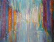 tableau abstrait colorful rain la pluie abstraction abstrait : painting  *colorful rain* Vendu