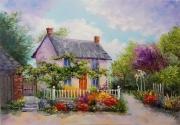 tableau architecture fairytale house house : painting *Fairytale house* Vendu