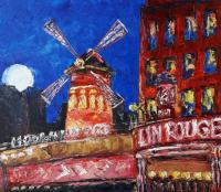 painting Moulin Rouge. Paris