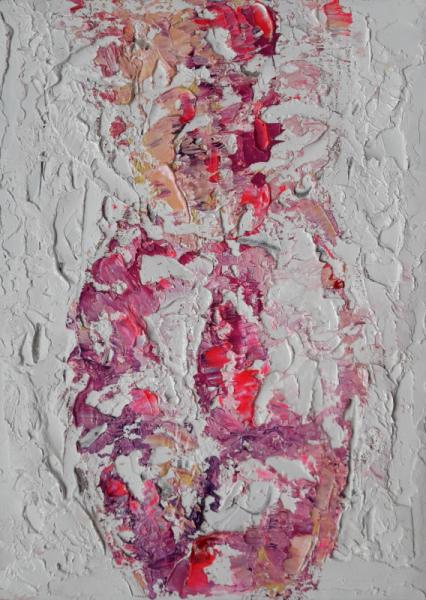 TABLEAU PEINTURE Nude flower Artwork nudes Art nus Abstract nudes Nus Peinture a l'huile  - Nude flower