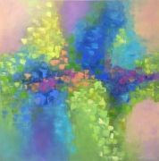 tableau abstrait abstraction abstrait : painting *Spring caprice *oil canvas 80x80cm