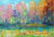 tableau abstrait abstrait tableau : Forest fairy tale