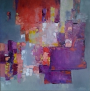 tableau abstrait abstrait sweetemotions : painting *Sweet Emotions*oil on canvas 80x80 cm