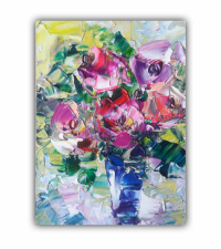 painting Lovely bouquet of bright flowers