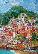 painting paysages italy art abstrait positano artmodern gift fleurs art : Charming Positano. Italy.