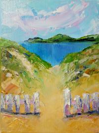 painting Dream beaches Original Art Impressionist Impasto Oil