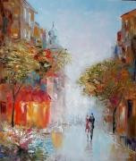 tableau architecture des emotions amoureux amour la ville : painting *voyage romantique*