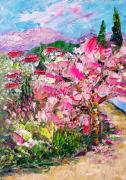 tableau fleurs tableau abstrait fleurs sakura blossom : Sakura blossom