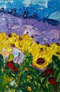 tableau paysages lavander original art sunflower painting flowers lavander original ar sunflower painting flowers : Lavander Original Art Sunflower painting flowers