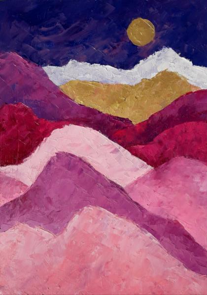 TABLEAU PEINTURE Abstrait Tableau Homedecor Artmodern Paysages Peinture a l'huile  - Discover new bright horizons