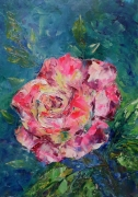 tableau fleurs painting the rose flowers and plants abstract home decor : painting *The Rose*