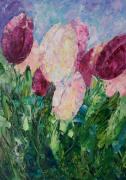 tableau fleurs flower artmodern pai flleurs tableau fleurs : Painting Tulips