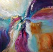 tableau abstrait abstraction abstrait : peinture * Des vagues de sentiment coloré ... * Vendu