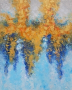 tableau abstrait golden cappuccino abstract and nonfig abstrait home decor : painting *Golden Cappuccino*