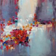 tableau abstrait abstraction moderne passions abstrait : painting *caramel*  Oil on canvas 80x80 cm  Vendu