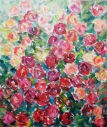 tableau fleurs flowers and plants abstract home decor art modern : PAINTING *LOVELY ROSES*