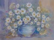 tableau fleurs abstraction marguerite blanche blanche : painting*Marguerite blanche donner le bonheur ... * Vendu