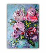 tableau fleurs bright flowers lovely bouquet painting bouquet flowers rose flowers : Rose Painting