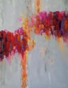 tableau abstrait rosebleu abstraction des emotions abstrait : painting * Beaujolais *vendu