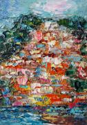 tableau paysages artmodern painting italy abstrait homedecor : Painting Amalfi Coast, Positano. Italy