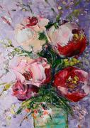 tableau fleurs fower rose fleur artwork flower artmodern : painting *Bouquet of flowers*