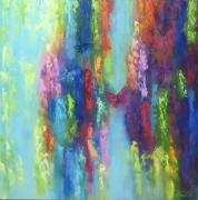 tableau abstrait abstrait ,a : painting *Dreams Come True*oil on canvas 80x80cm  Vendu