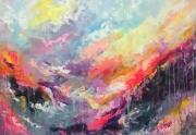 tableau abstrait art : painting Color emotion