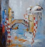 tableau architecture architecture : painting*Venise1*oil on canvas 70x70 cm