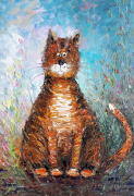 tableau animaux artmodern homedecor cats : Painting Cat