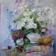 tableau fleurs abstraction abstrait fleurs bouquet : *Bouquet of flowers* Emotion of Freedom