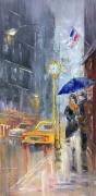 "tableau architecture abstraction abstrait new york citi : *Evening New York*  création ""*Evening New York* Vendu"