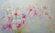 tableau fleurs abstraction fleurs orchid : peinture * Orchid. Belle et élégante fièrement! * Huile sur toil