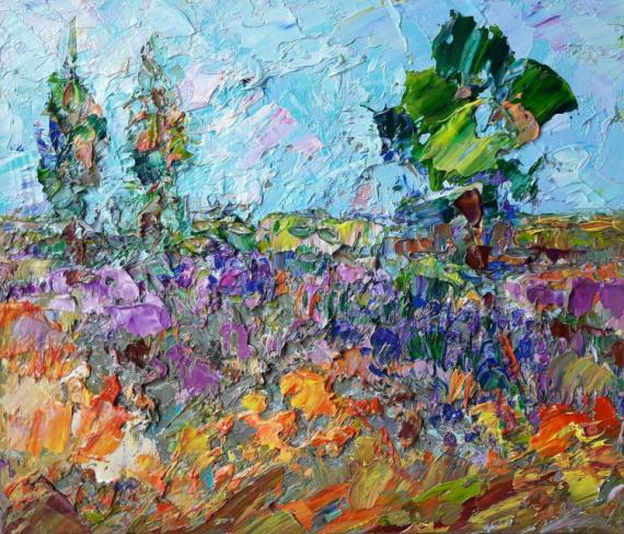 TABLEAU PEINTURE Paysajes Abstrait art Fleurs art Tableau Paysages Peinture a l'huile  - Spring landscape